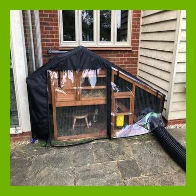 WATERPROOF COVER FOR THE BALMORAL RAISED HUTCH WITH UNDER RUN