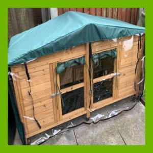 COVER TO FIT THE 6FT RABBIT HUTCH (AVAILABLE WITH THERMAL LINING)