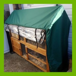 HIGH QUALITY WATERPROOF COVER FOR HONEYSUCKLE DOUBLE APEX HUTCH