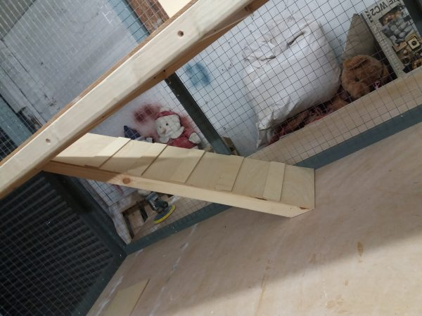 Wooden Ramp to upper floor