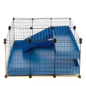 3X2 COMFORT C&C GUINEA PIG CAGE WITH LOFT + RAMP IN BLUE WITH LID