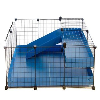 3X2-COMFORT-CC-GUINEA-PIG-CAGE-WITH-LOFT-RAMP-IN-BLUE-WITH-NO-LID