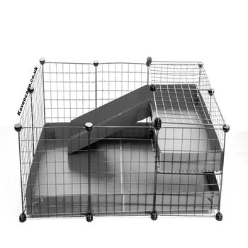 3X2 COMFORT C&C GUINEA PIG CAGE WITH LOFT + RAMP IN GREY WITH NO LID
