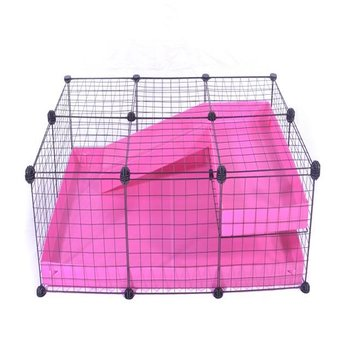 3X2-COMFORT-CC-GUINEA-PIG-CAGE-WITH-LOFT-RAMP-IN-PINK-WITH-LID