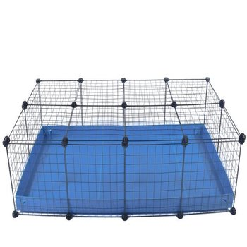 4 X 2-CHEAP INDOOR RABBIT CAGE IN BLUE
