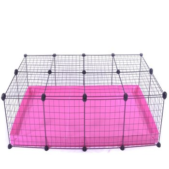 4 X 2-CHEAP INDOOR RABBIT CAGE IN FRUITY PINK