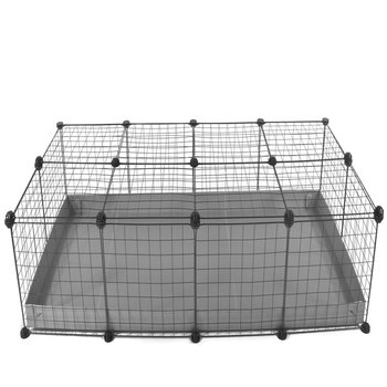 4 X 2-CHEAP INDOOR RABBIT CAGE IN GREY