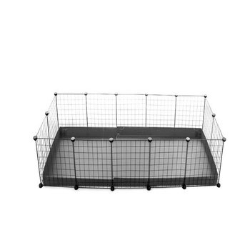 5x2-guinea-pig-cage-deluxe-NO-LID-IN-GREY