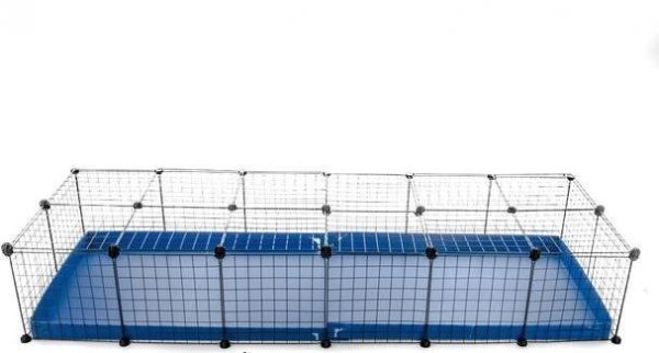6X2 GUINEA PIG RUN (IDEAL FOR 4 GUINEA PIGS) BLUE WITH LID