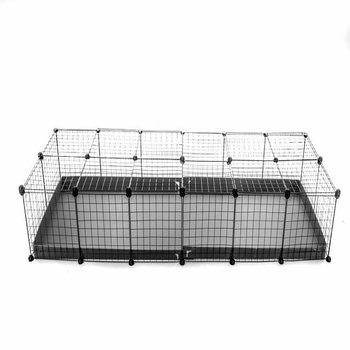 6X2 GUINEA PIG RUN (IDEAL FOR 4 GUINEA PIGS) GREY WITH LID