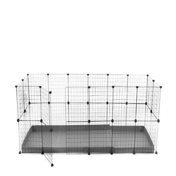 C & C ENCLOSURE 6 X 2 for 2 rabbits in grey