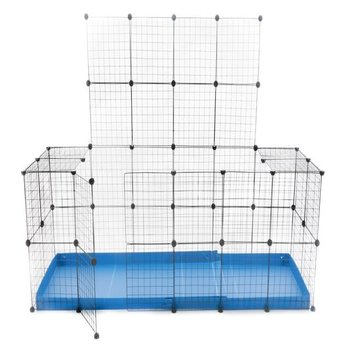 C & C ENCLOSURE 6 X 2 for 2 rabbits with lid - in blue