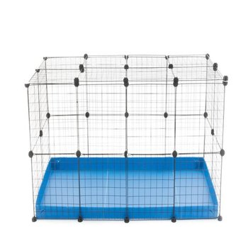COMFORT RECTANGULAR RUN WITH DOUBLE HEIGHT WITH LID IN BLU