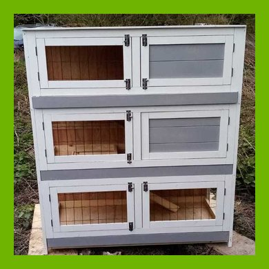 DREAMY PETZ 3 STOREY INDOOR GUINEA PIG HUTCH WITH EXERCISE AREA