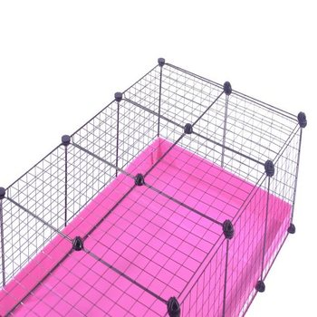 EXTRA LARGE INDOOR RABBIT CAGE in fruity pink