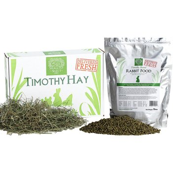 3RD CUT TIMOTHY HAY and RABBIT FOOD PELLETS from small pets select