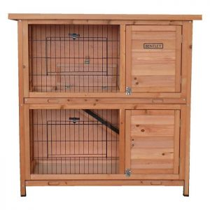 CHARLES BENTLEY TWO STOREY GUINEA PIG HUTCH EASY CLEAN GALVANISED TRAY