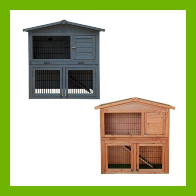CHARLES BENTLEY TWO STOREY GUINEA PIG HUTCH WITH PLAY AREA