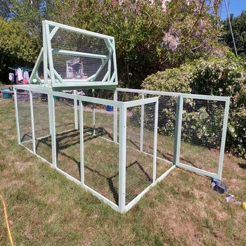 EXTRA LARGE RABBIT RUN 300CM x 150CM x 100CM HIGH WITH PARTIAL OPENING TOP EXAMPLE