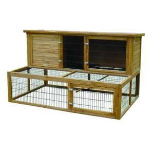 LAZY BONES XXL RABBIT HUTCH & DOUBLE RUN LB-337