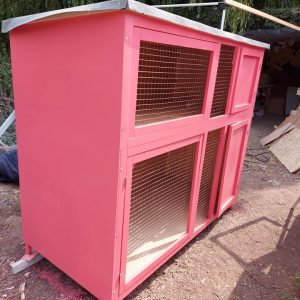 6 FT DOUBLE TIER RABBIT GUINEA PIG HUTCH