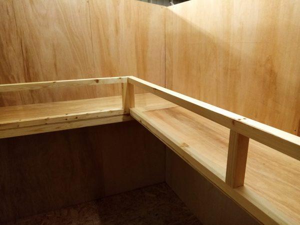 inside of rabbit shelving