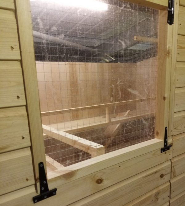 rabbit shed with Perspex window