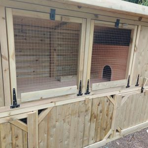 rabbit hutch shed with shutters