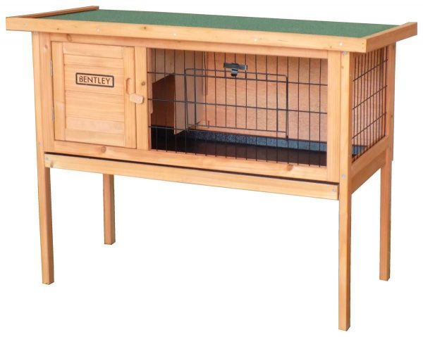 CHARLES BENTLEY Wooden GUINEA PIG CAGE RUN WITH CLEANING TRAY GREY BROWN
